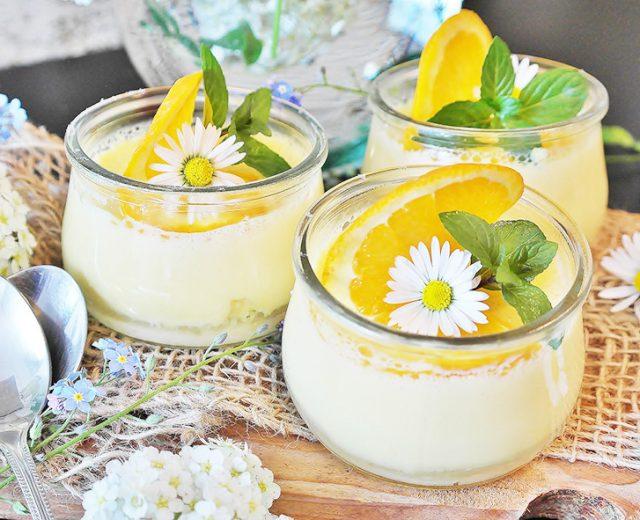 Mousse de laranja com leite condensado