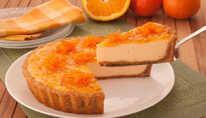 Torta de leite Ninho com tangerina