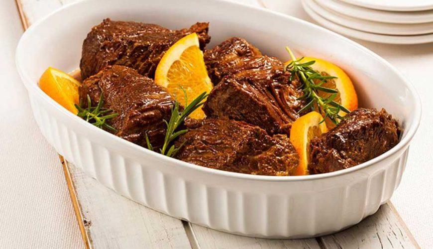 Carne ao molho de laranja