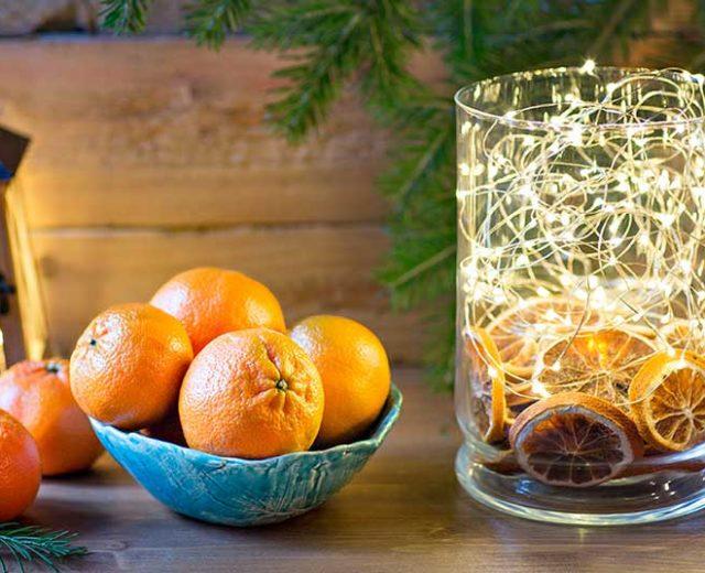 Faça sua própria decoração de Natal com frutas cítricas
