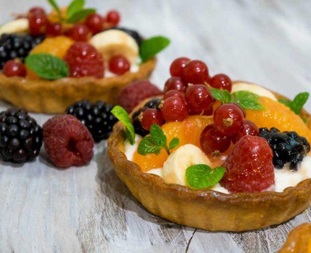 Tartelete de Frutas com Creme de Queijo