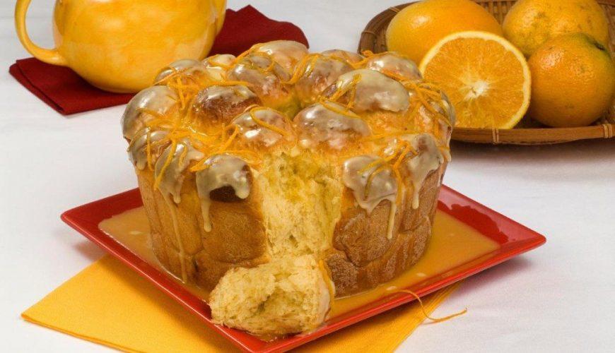 Rosca com glacê de laranja