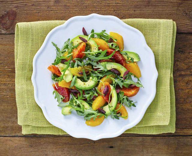 Salada de Abacate com Laranja