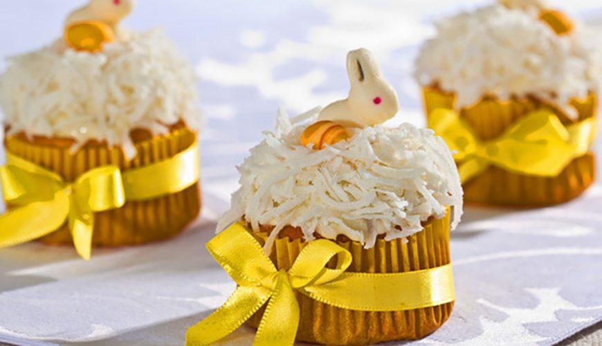 Cupcake de Páscoa com Laranja e Coco