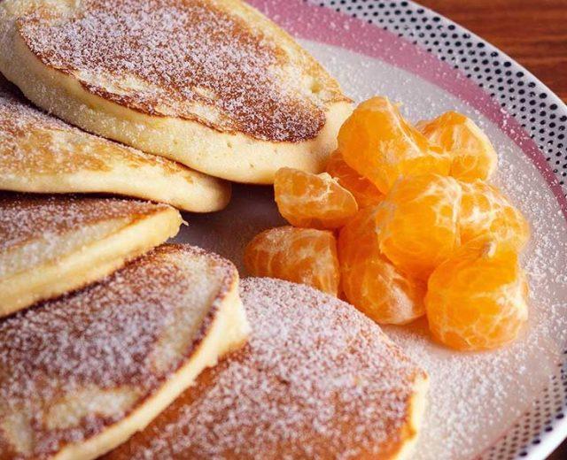 Panqueca fofinha de tangerina